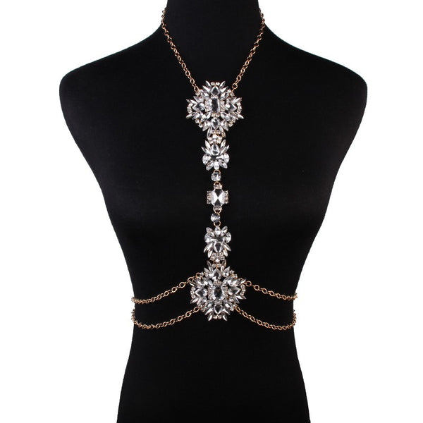 Cleopatra Crystal Body Chain Necklace