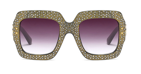 Slay Accessories. Crystal oversized sunglasses.