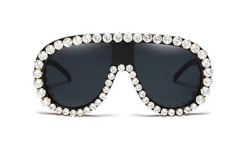 Slay Accessories. Stylish Crystal embellished sunglasses.