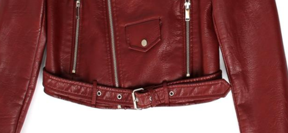 Slay Accessories. Oxblood leather motorcycle jacket. Oxblood leather biker jacket.