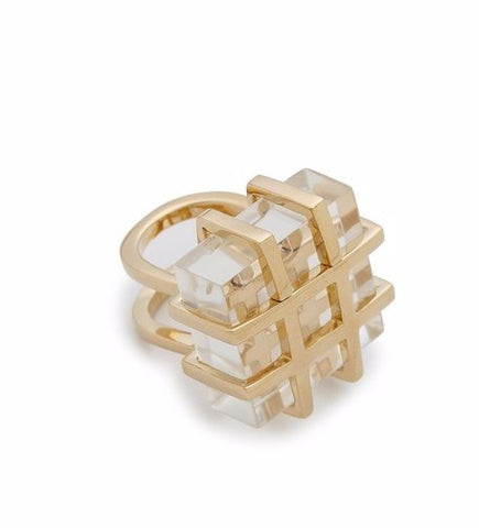 Geometric Faux Stone Ring
