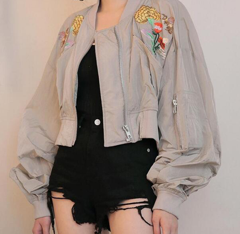 Ayo Embroidered Bomber Jacket