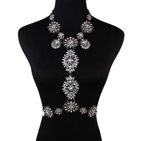 Shira Crystal Body Chain Necklace