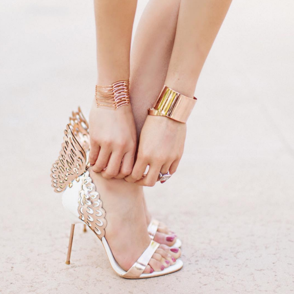 Tropez Gold Angel Wing Sandals