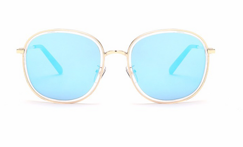 Designer Style Mirror Oversized Aviator Sunglasses