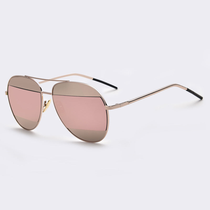 Marie Color Block Mirror Aviator Sunglasses