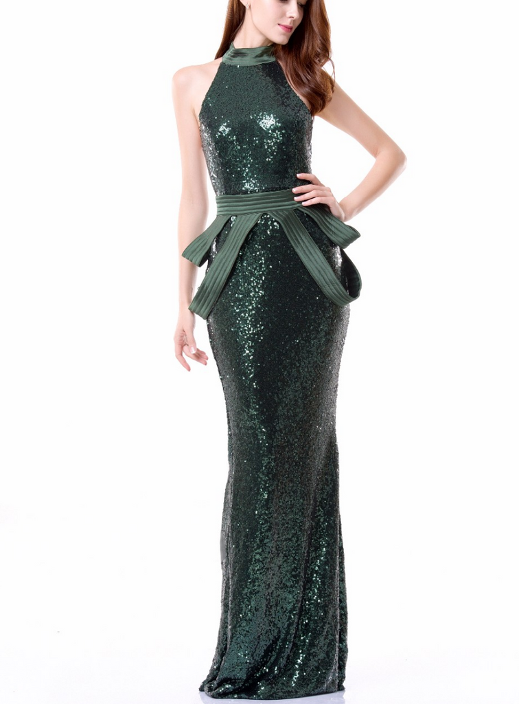 Ezali Emerald Sequin Dress – Slay Accessories