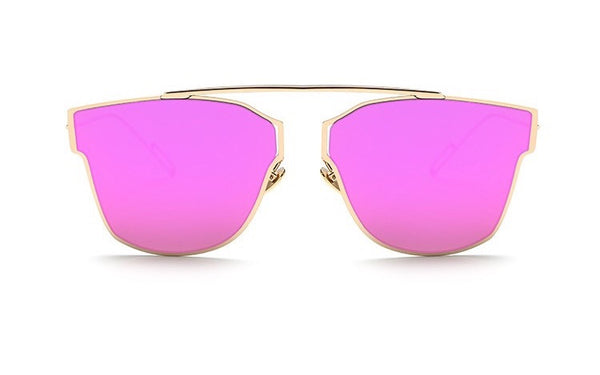 Fashion Metal Frame Reflective Mirror Sunglasses