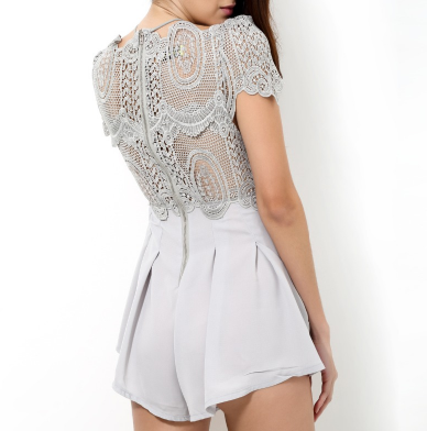 Ivy Gray Lace Playsuit