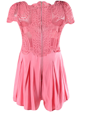 Ivy Pink Lace Playsuit