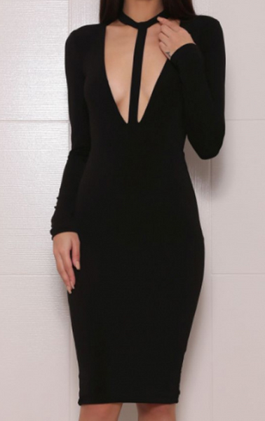 Kenya Black Bandage Dress