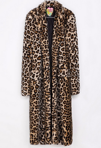 Slay Accessories. Leopard faux fur coat.