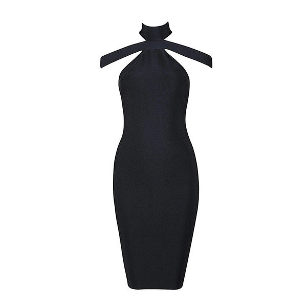 Lily Black Bandage Dress