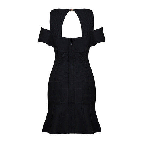 Lyna Black Bandage Mini Dress