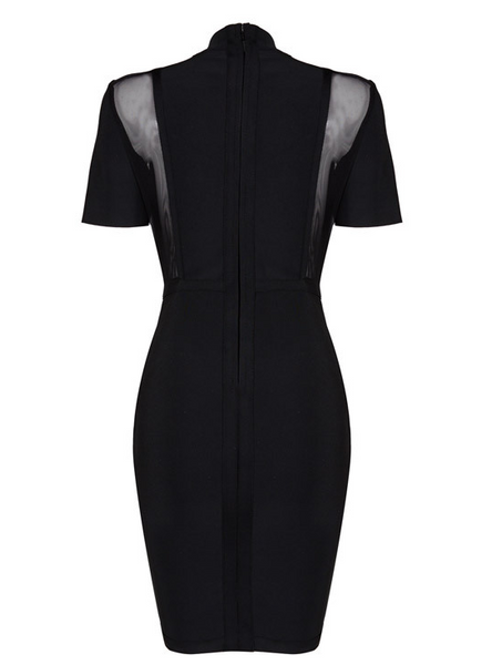 Malika Black Bandage Dress