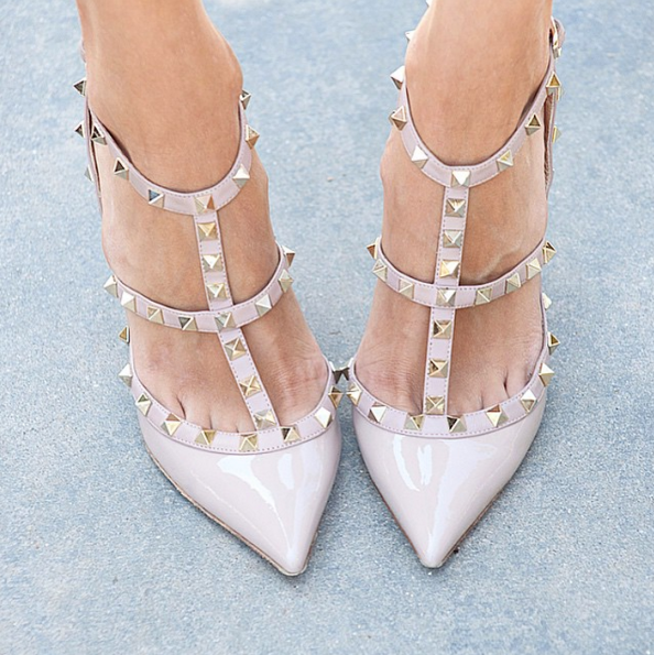 Anastasia Nude Patent Leather Sandals