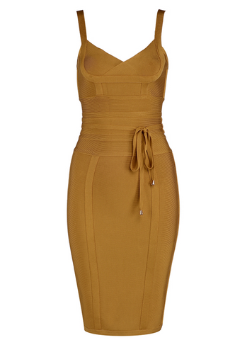 Slay Accessories. Bandage dress with waist tie.
