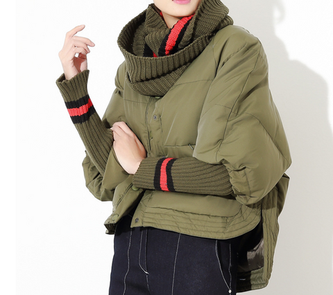 Slay Accessories. Olive green puffer coat. Stylish army green puffer coat.