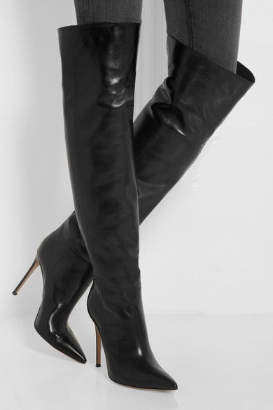 Ebonie Black Over The Knee Boots