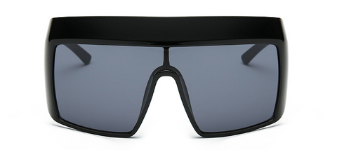 Slay Accessories. Designer style oversized square matte black sunglasses. UV400 protection