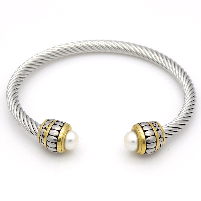 chains bangle alloy from huierjew twisted women bracelet for product bracelets gold charms dhgate com