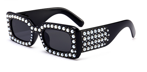 Slay Accessories. Designer style pearl studded sunglasses.