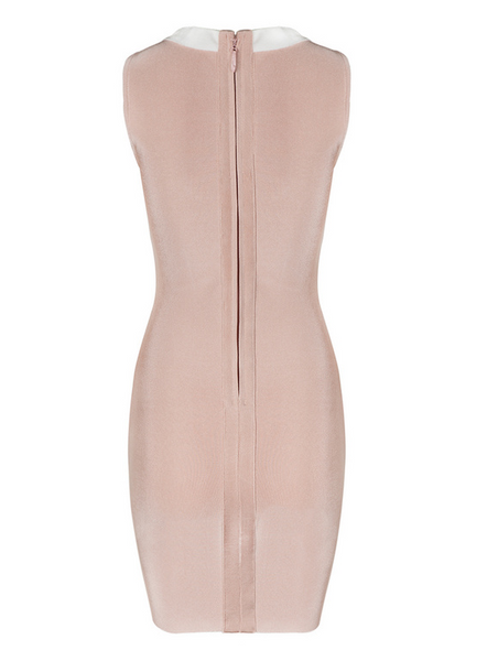 Slay Accessories. Pink tie up bandage dress.
