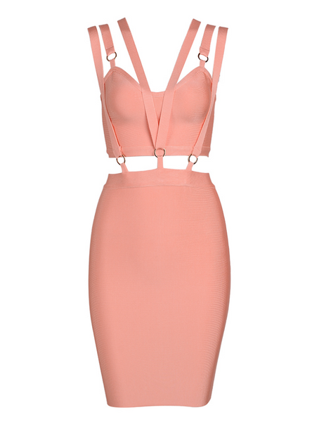 Slay Accessories pink bandage dress.