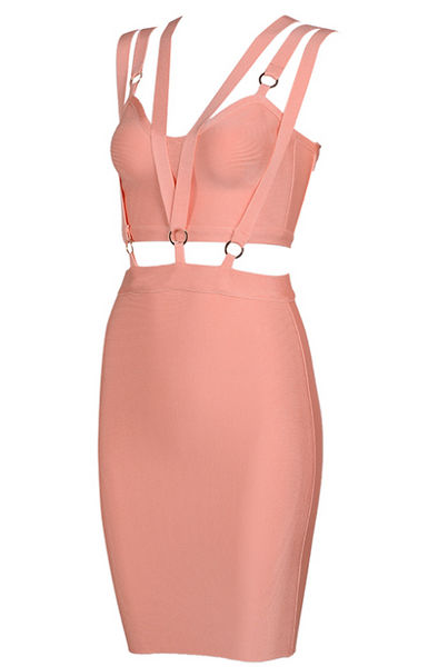 Slay Accessories pink bandage dress