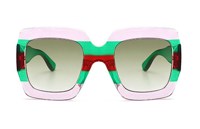 Slay Accessories. Designer style sunglasses, colorblock design square frame sunglasses.