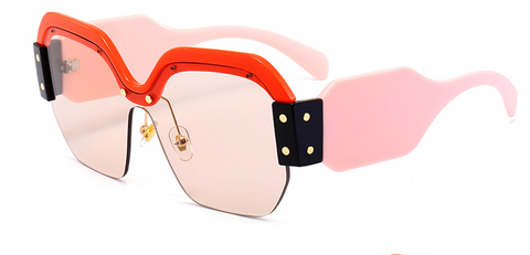 Slay Accessories. Pink and orange designer style sunglasses.