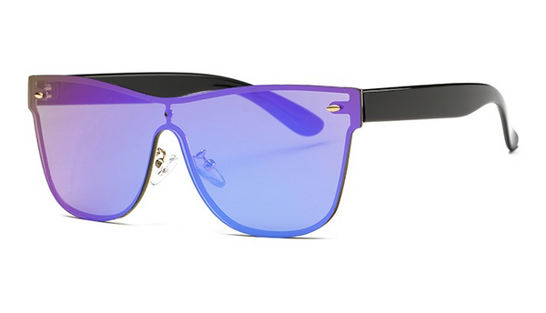 Maldives Sleek Purple Rimless Sunglasses