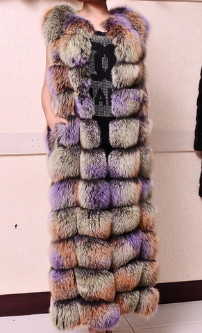 Slay Accessories. Rainbow fur color vest.
