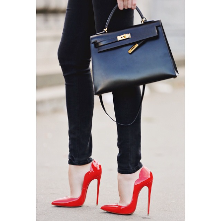 Lola Red Patent Leather Pump