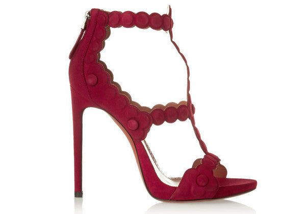 Sheila Red Suede Cut Out Sandals