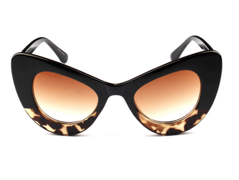 Retro Vintage Bold Frame Cat Eye Sunglasses Women Fashion Sun Glasses