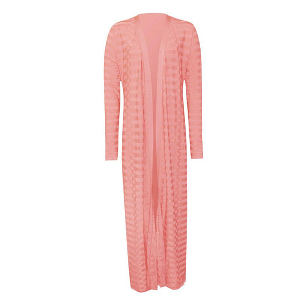 Slay Accessories Pink bandage long cardigan and pants set.