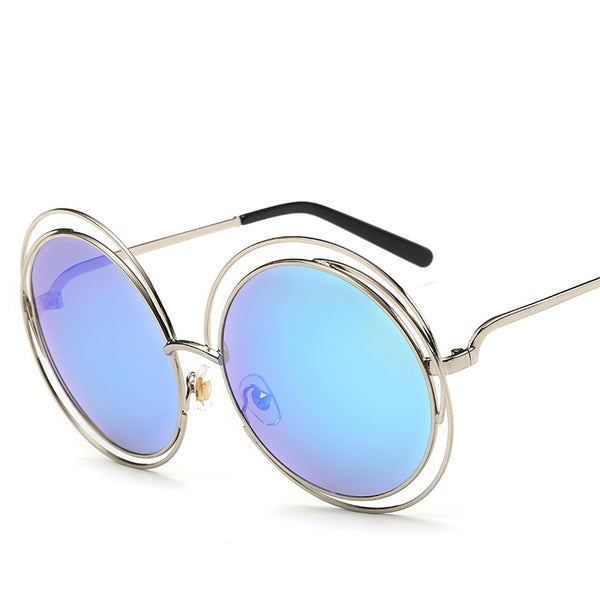 Round Metal Circles Frame Fashion Sunglasses Women Fashion Designer Style Sun Glasses