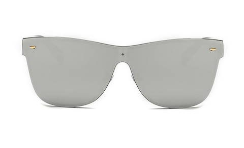 Maldives Sleek Silver Rimless Sunglasses