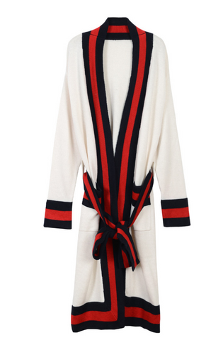 Slay Accessories. Long strip belt cardigan sweater.
