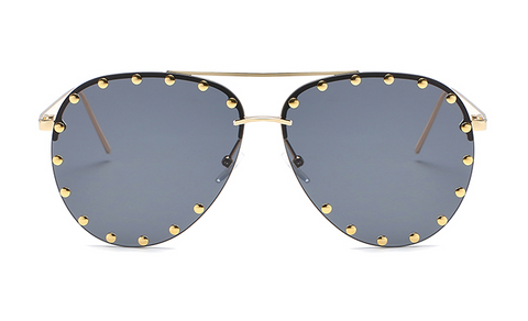 Slay Accessories. Gold studded aviator sunglasses.