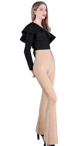 Slay Accessories bandage flare leg pants.
