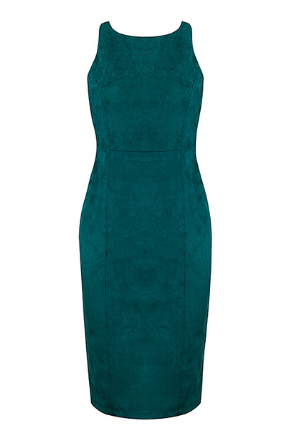 City Teal Suede Dress