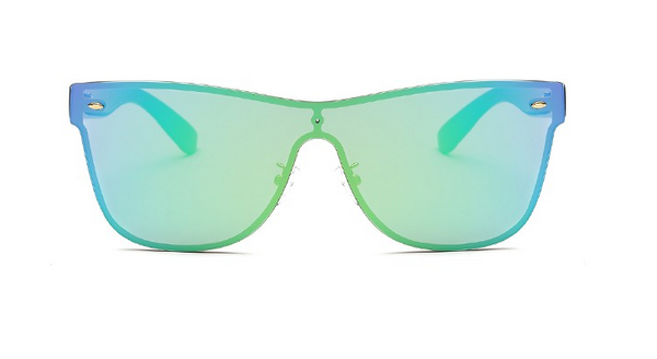 Maldives Sleek Turquoise Rimless Sunglasses