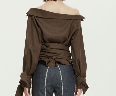 Vogue Olive Asymmetrical Top
