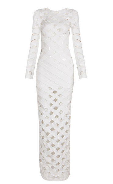 Keranda White Maxi Bandage Dress