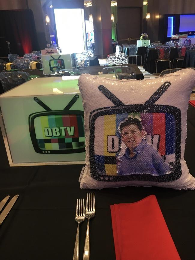 Bar Mitzvah in Frisco, Texas & 150 Custom Sequin Pillows