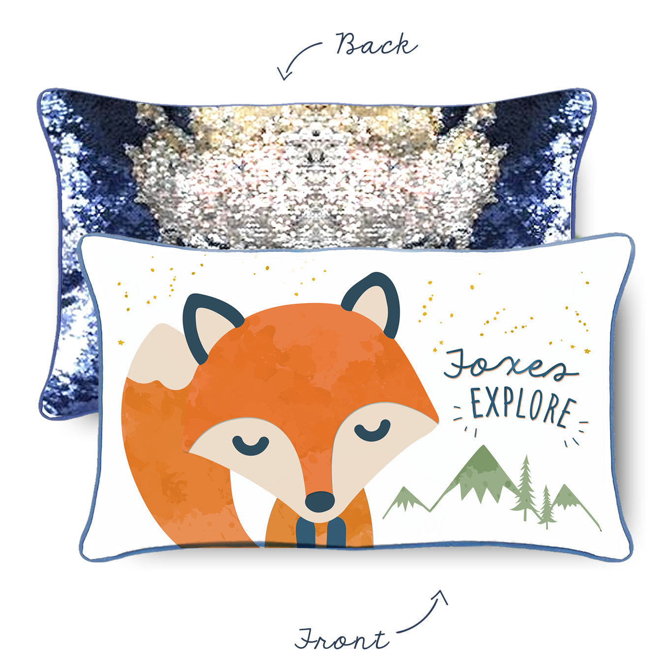 EXPLORE Fox Mermaid Pillow from the Positivity Collection