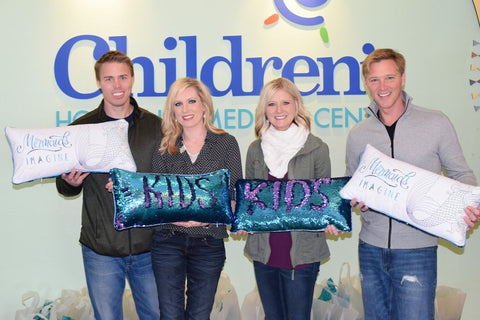 Donation of Mermaid Pillows to Children's Hospital