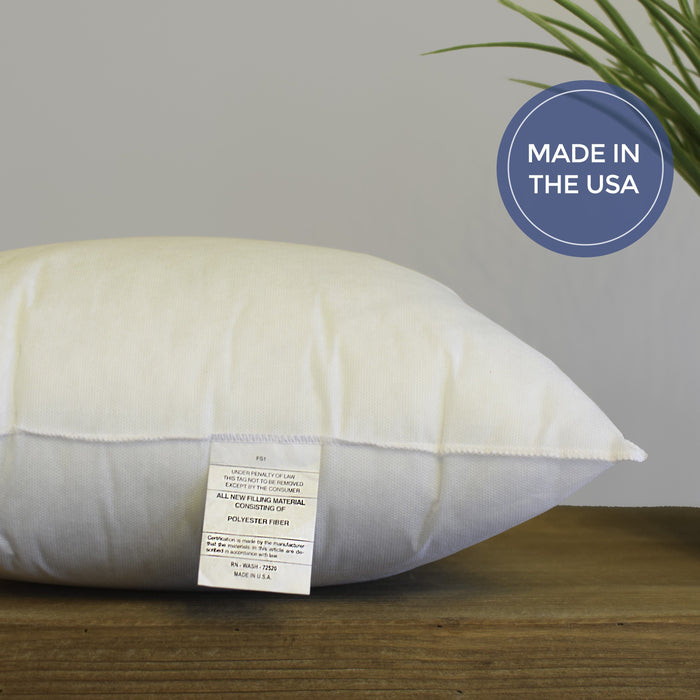 "24"" x 24"" Hypoallergenic Pillow Inserts *Made in Seattle, USA*"